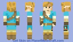 Link - LoZ BotW Minecraft Skin