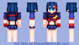 Ryuko Matoi-Kill La Kill (edit) Minecraft Skin