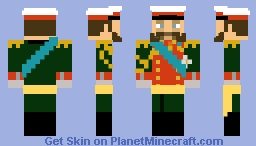 Alexander II, Emperor of Russia, King of Poland, and Grand Duke of Finland Minecraft Skin