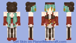 making miku skins for clout Minecraft Skin