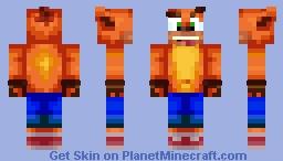 Crash Bandicoot (Crash Series) - Paint_Bucket Minecraft Skin