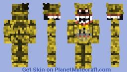 Nightmare Golden Freddy Minecraft Skin