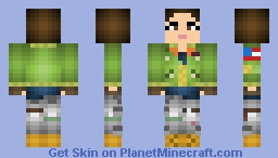 Lilly (Episodes 2-4) - The Walking Dead: The Final Season Minecraft Skin