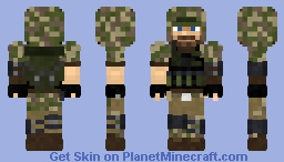 Solid Snake Price Camouflage: (Call of Duty MW - Metal Gear) Minecraft Skin