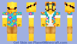 Yellowy Vacation Minecraft Skin