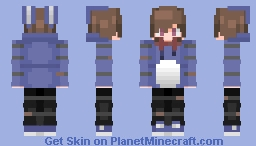 Bonnie The Bunny [Five Nights At Freddy VR: Help Wanted] (Human Version) Minecraft Skin