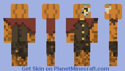 Undead Pumpkin Man Minecraft Skin
