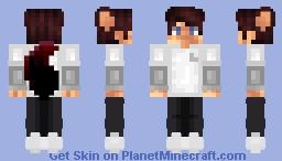 minecraft anime wolf boy skin