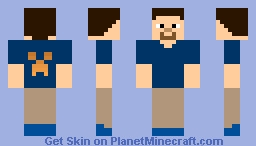 STeve with FireCreeper face Minecraft Skin