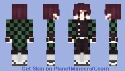 Kamado Tanjirou || Kimetsu no Yaiba || Demon Slayer Minecraft Skin