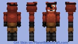 fnaf/foxy Minecraft Skin