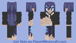 Acnologia Human Form ~ FairyTail Final Season Minecraft Skin