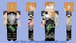 Armored Herabrine (Corrupted Alex) Minecraft Skin