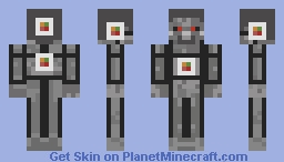 O-6000 Solid Metal steel Steve Minecraft story Mode - robot Character Minecraft Skin