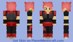 black gogeta blood ring Minecraft Skin