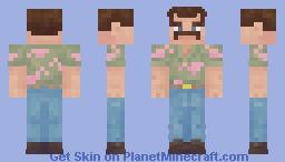 Stranger Things 3 : Jim Hopper Minecraft Skin