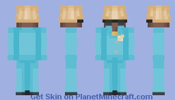 IGOR BLUE SUIT, GREEN IN DESC. Minecraft Skin