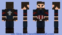 Infinity War Captain America Minecraft Skin