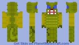 Yellow-Green Dragon Spitting a Little Fireball Minecraft Skin