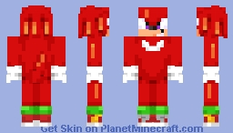 knuckles the echidna Minecraft Skin