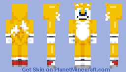 tails 'miles' the fox Minecraft Skin