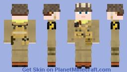 WW2 U.S Airborne Paratrooper (17th Airborne Division) Minecraft Skin