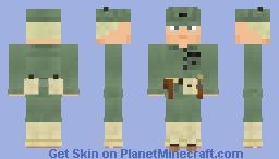 WW2 U.S.MC Infantry (6th Marine Division) Minecraft Skin