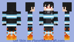 Shinra Kusakabe Fire Force🔥 Minecraft Skin