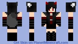 🐺☠Demon wolf girl☠🐺 Minecraft Skin