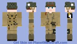WW2 U.S Airborne Paratrooper (101st Airborne Division) V1 Minecraft Skin