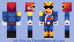 Retro Captain Falcon Minecraft Skin