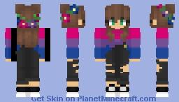 Bi Girl Minecraft Skin