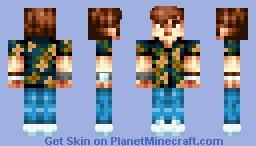 Floral Shirt Boy Minecraft Skin