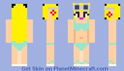 Leni Loud TLH Summer Vacation Skin Minecraft Skin