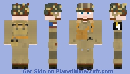 WW2 U.S Airborne Paratrooper (101st Airborne Division) V2 Minecraft Skin