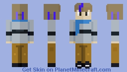 Electric blue [Commission]   Holographic_ Minecraft Skin
