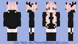 Edgy pink aesthetic Minecraft Skin