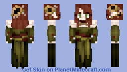𝓡𝓸𝔃𝒆 || Medieval | Forest Circle Druid Minecraft Skin