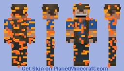 Sniper on fire ( team fortress 2 ) Minecraft Skin