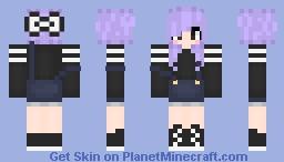 Cute Overall Girl Minecraft Skin