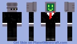 a robot Minecraft Skin