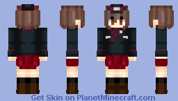 Nishizumi Maho | Girl Und Panzer | Anime cartoon Minecraft Skin