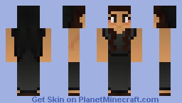 Roman mourning woman with veil and red eyes Minecraft Skin
