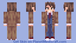 10th Doctor - Doctor Who - David Tennant {Poppy-Reel} Minecraft Skin