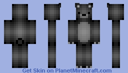Black Bear Minecraft Skin
