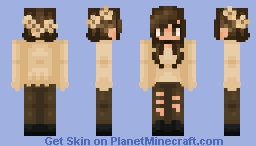 Falling Autumn Flowers Minecraft Skin