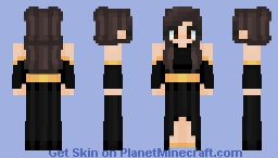 Black dress Minecraft Skin