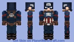 Captain America   Avengers   Endgame Minecraft Skin