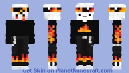 Fire Guy Minecraft Skin