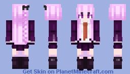 Danganronpa Trigger Happy Havoc || Kyoko Kirigiri || Ultimate Detective|| AKA BEST GIRL Minecraft Skin